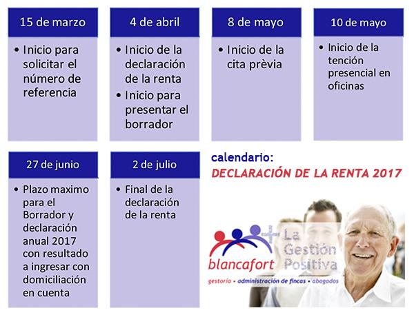 Calendario Renta 2017